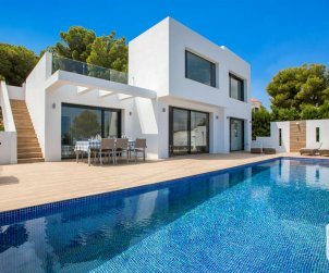 Modern house  Benissa 8 persons with private pool and air conditioning p0