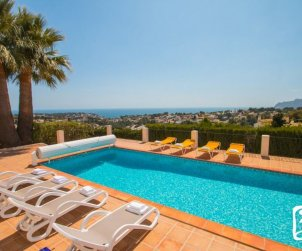 House  in Benissa  for 10 persons with private indoor pool, solarium and beautiful sea view  p0