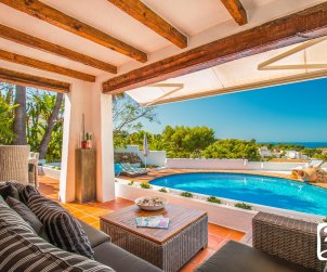 House  in Moraira  for 8 people in ibiza style with private pool and air conditioning  p2