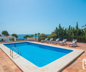 House  in Benissa  for 8 people with private pool, sea view and air conditioning  p0