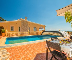 Villa  in Benissa  for 10 people with private pool and sea view  p0