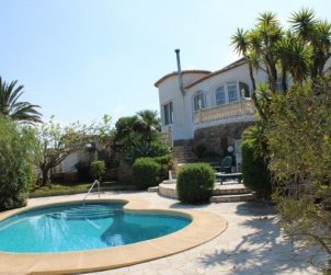 House  in Denia  for 6 people with private pool and beautiful sea view  p1