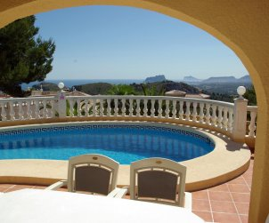 House   Benitachell 6 persons - private pool, sea view and air conditioning p0