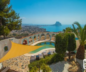 House   Calpe 8 persons - private pool, air conditioning and sea view p0