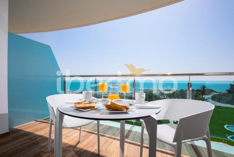 Apartment  in Alcossebre  for 5 people in a hotel complex with communal swimming pool and frontal sea view  p0
